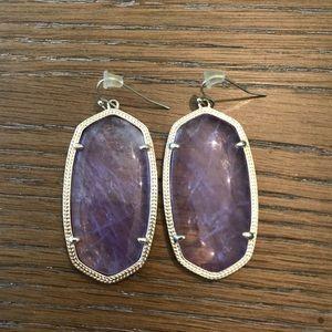 Kendra Scott Danielle Purple Earrings